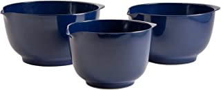 Hutzler 3234CB Set of 3 melamine mixing bowl set, 2 L/3 L/4 L, Cobalt Blue