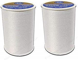 Coats & Clark All Purpose Thread 400 Yards White (One Spool of Yarn) (2 Pack)