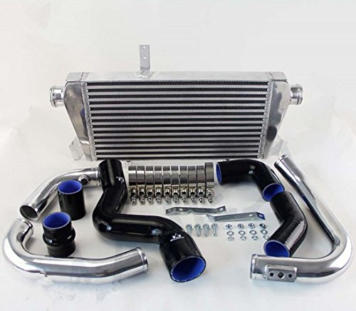 GOWE Intercooler Kit for New Front Mount Intercooler Kit for Audi A4 1.8T Turbo B6 Quattro 2002-2006 BLACK