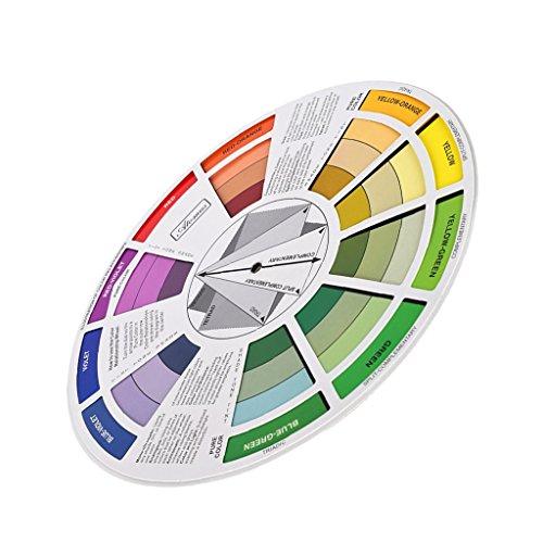 MagiDeal Color Mixing Wheel – Rueda de mezcla de colores – Disco de mezcla de colores