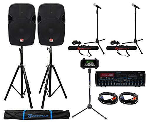 Rockville+Technical Pro Youtube Karaoke Machine System Mixer w/ Bluetooth
