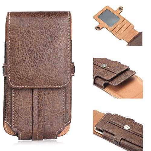SZCINSEN 4.7 Custodia in pelle universale per iPhone 11 Pro/8/X/Samsung s3/s4/s6 (colore: marrone scuro)