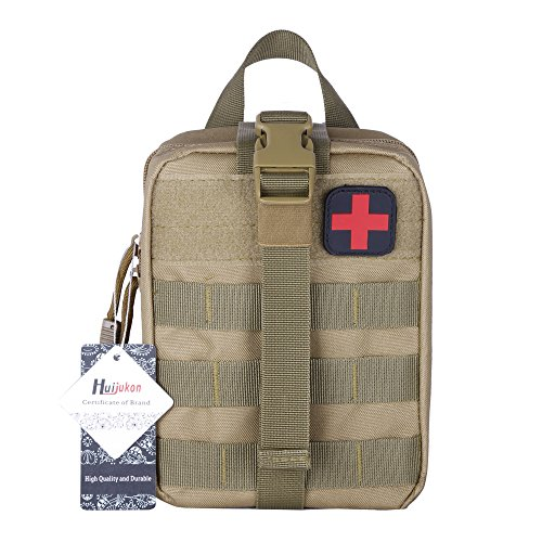 Huijukon Taktische Molle Rip-Away EMT Pouch Medical First Aid IFAK Pouch (hellbraun)
