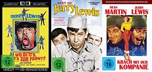 6er JERRY LEWIS Klassiker Collection - Wo bitte geht's zur Front + Das Mondkalb + Besuch vom kleinen Planeten + Alle Mann von Deck + Krach mit der Kompanie DVD Limited Edition