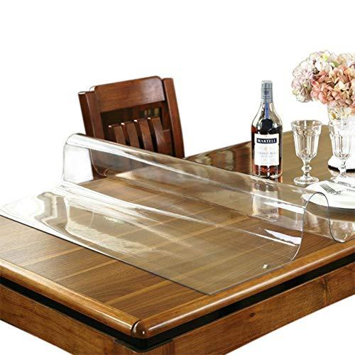 Manteles transparentes de Tpu para el hogar, cocina, comedor, escritorio, de cristal suave, impermeable, a prueba de aceite, 1 mm, transparente, 70 x 120 cm