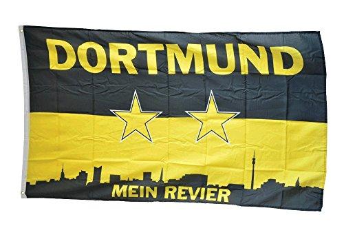 Flaggenfritze® Flagge Fanflagge Dortmund Mein Revier Sterne - 90 x 150 cm