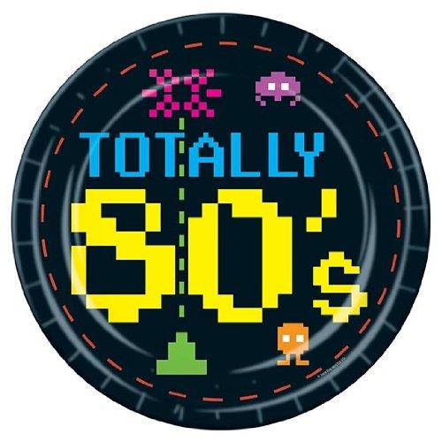Totally 80's Retro Gamer Theme Party Plates x 8