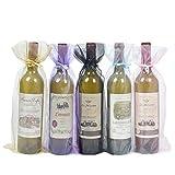 Bolsas para Botellas de Vino de Organza,20 Pack Bolsas de Vino de Organza Bolsas...