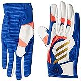 [アディダス] 野球用手袋・グローブ エントリーバッティンググローブ GLJ29 メンズ ホワイト/カレッジネイビー(FS3918) 日本 L (FREE サイズ)