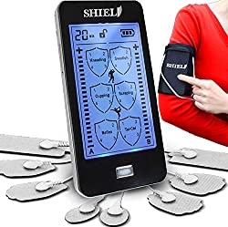 Shield Touchscreen Rechargeable TENS Unit, Electronic Massager for Neck and Back Pain
