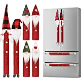D-FantiX Gnome - Juego de 8 fundas para manijas de nevera con diseño de tomate sueco, ideal para cocina, microondas, lavaplatos, nevera, etc.