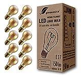 10x Bombilla de filamento LED greenandco® Vintage E27 3W (corresponde a 16W) 150lm 2000K (blanco cálido) 360° 230V vidrio, sin parpadeo, no regulable