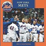 """New York Mets: 2021 Wall Calendar - Large 8.5"""" x 17"""" When Open - 12 Months"""