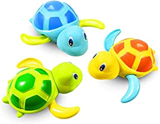 Excefore 3PCS Baby Bath Toys, Clockwork Turtle For Toddlers Boys Girls, Wind Up Bath Toy, Water Toys Swimming Turtle, Cloc...