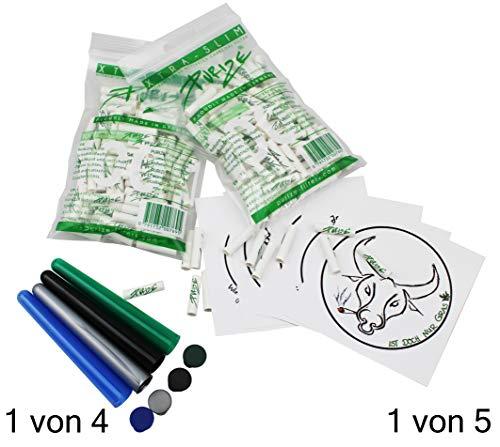PURIZE 200 Aktivkohlefilter (2X 100 Xtra Slim) Set Conetube und 1von5 TF Sticker