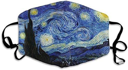 Mouth Cover Starry Night By Vincent Van Gogh Anti Dust Ear Loops Reusable Washable Facial Protection product image