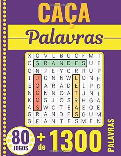 Caça Palavras: Portuguese Puzzle Game – Letras Grandes | Livro com 80 Jogos & + de 1300 palavras | Grande Formato 21 x 29,7 cm | Passatempo - Presente para Tempos livres, Ferias e Viagens