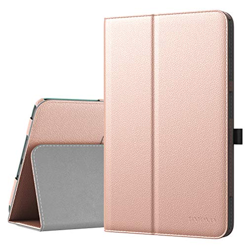 TiMOVO Samsung Tab A 10.1 Case - Smart Cover Slim Folding Stand Case with Auto Wake/Sleep Function for Samsung Galaxy Tab A Case 10.1' 2016 Release (SM-T580 / T585, No Pen Version), Rose Gold