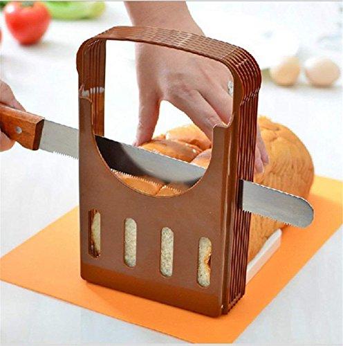 BeatlGem Faltbare und Verstellbare Brot Sandwich Brotschneidemaschine Anleitung Toast Slice Cutter Mould