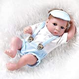 ADZKOO Reborn Baby Doll 26cm 10inches Full Body Handmade Soft Silicone Babies Realistic Looking Newborn Toddler Dolls Child Gift Toy Nice Family