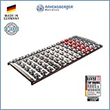 RAVENSBERGER VARIFLEX 5-Zonen Buche Systemtellerrahmen | Starr | 4-Fach Segmentteller-Federelementen | Made IN Germany - 10 Jahre GARANTIE | 90 x 200 cm