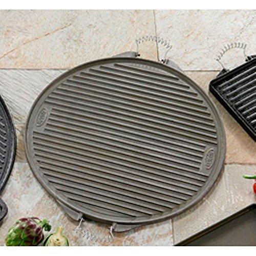 La Ideal Redondo Plancha de Hierro Fundido, Negro, 65cm
