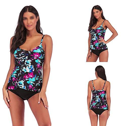 Teansan vrouwen één stuk badpak zwemkleding zwemmen kostuum zwemkleding Tummy controle Plus maat #48
