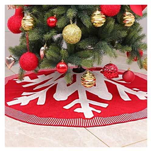 WENSHENG Falda de árbol de Navidad Árbol De Navidad De La Falda De Acrílico De Navidad De Punto...