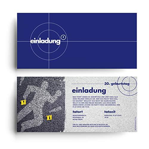 (10 x) Einladungskarten zum Geburtstag Tatort lustig witzig Einladungen Karten