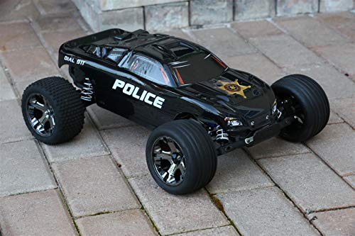 Custom Body Police Style Compatible for 1/10 Scale RC Car or Truck (Truck not Included) R-PB-01