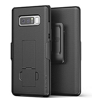 Encased Samsung Galaxy Note 8 Belt Holster Thin Fit [DuraClip Series] Slim Grip Case & Belt Clip  Smooth Black