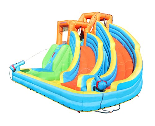 Sportspower Twin Peaks Splash and Slide with Water Cannons and...