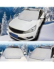 車用凍結防止カバー・シート 車雪対策 防水 防風 日よけ 雪 氷 霜よけ ホコリ 落ち葉対策カーシェード車用シート 挟み耳付き 四季対応 ガラスカバー 収納袋付き
