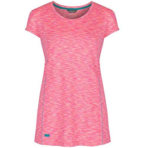 Regatta T- Shirt Technique Stretch Manches Courtes HYPERDIMENSION léger et Respirant Polos/Vests Femme, Blue Aster, FR : XXS (Taille Fabricant : 8)