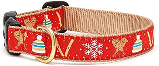 Up Country Snowshoes Dog Winter Pattern Dog Collar, Large (15 To 21 inches) 1 Inch Wide Width