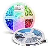 GIDERWEL RGBW LED Strip Light,16.4ft SMD5050 Flexible RGB Cold White LED Strips 300LEDs,Dimmable Mixed Color Changing LED Tape Light Ambiance Lighting for Party Home Kitchen,Only 5m Strips