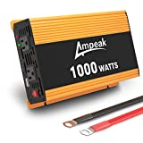 Ampeak 1000W Power Inverter: 12V DC to 110V AC Converter for Car/Truck/RV with 2 AC Outlets and 2.1A USB Charging Port