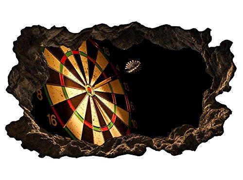 3D Wandtattoo Sport Dart Pfeil Dartscheibe Bild selbstklebend Wandbild sticker Wohnzimmer Wand Aufkleber 11H1018, Wandbild Größe F:ca. 140cmx82cm