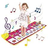 NEWSTYLE Alfombra Musical, Musical Tapete para Bebé, Teclado Alfombra de Piano de Suelo, Sonido Animal Baile Tapete Mat Musical Educativo Juguete para Niños Niño Niña (100 * 36 cm)