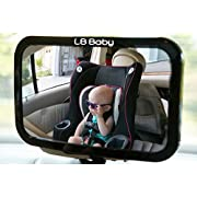 Baby Rear Car Seat Mirror, The Original Wide-Clear View Rear-Facing Baby Mirror, Highest Quality, EZ Mount, Fully Adjustable, Shatterproof, Fits Any Headrest. Is Your Baby Asleep, Happy or Fussy. Now You Will Know.