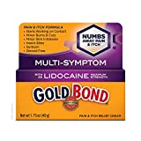 Gold Bond Pain & Itch Relief Cream with Lidocaine, gold, 1.75 Ounce