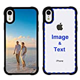 MXCUSTOM Custom Apple iPhone XR Case, Customized Personalized with Photo Image Text Picture Design Make Your Own Phone Cases Covers [Soft TPU Bumper+ Clear Hard PC Back] (PHT-BK-P1)