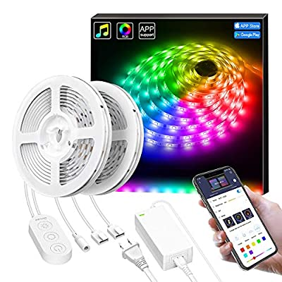 Smart LED Lights Strip with Music Sync, Govee A...
