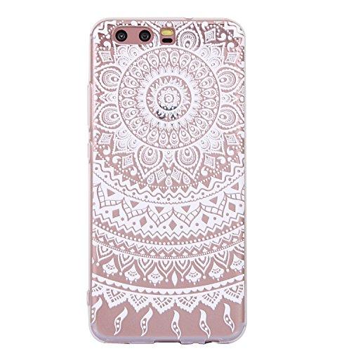 Coque Huawei P10 (5,1 Zoll), Coque de protection pour Huawei P10 (5,1 Zoll), Anlike Téléphone Coque Étui Housse Etui Case pour Huawei P10 (5,1 Zoll) - Cercle blanc