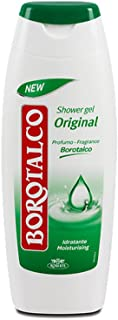 Original Borotalco Hydrating Bath and Shower Gel, Talcum Powder Scented Body Wash, Extra Moisturizing Classic Formula, 500 milliliters