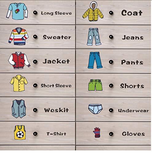 JHLP Leuke Jongens kleding Logo Ondergoed Label Opbergdoos Stickers Meisjes Kamer Decals voor Kinderen Kamers Slaapkamer Home Decor