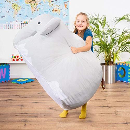Smoothy Kindersitzsack Elefant - Tierform Sitzsack für Kinder - Kindermöbel XXL Stofftier aus Baumwolle - 4