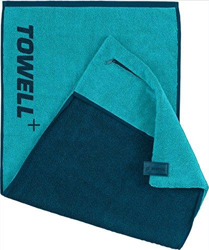 STRYVE Towell Plus V2 Sporthandtuch mit Tasche und Magnetclip, in 7 Farben Die Höhle der Löwen (Electric Blau) Gym Handtuch TOWELL+