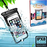 Funda Impermeable Universal [2 Paquete] - Bolsa para móvil estanca a Prueba de Agua IPX8 para iPhone iPhone 11 Pro Max Xs Max XR X 8 7 6S Plus, Galaxy S20 Ultra S20+ S10 Plus S10e S9 Plus S8