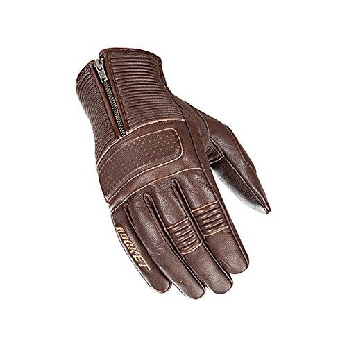Joe Rocket Cafe Racer Mens Street Motorcycle Leather Gloves - Brown/Large